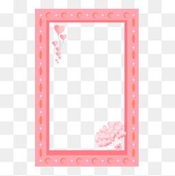 情人節七夕粉色相框氣球愛心