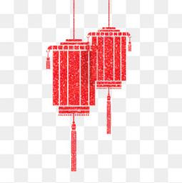 元宵节红色元宵灯笼挂饰