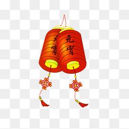 宵节红色灯笼喜庆