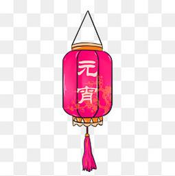 元宵节装饰紫红色灯笼