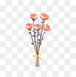 春天粉色手绘植物小清新元素