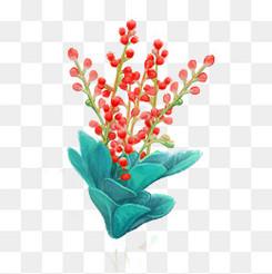 春天手绘植物鲜花小清新元素