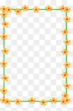 春天手绘花朵小清新边框