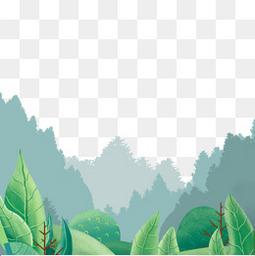 森林植物绿色主题春天