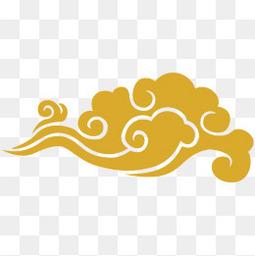 中国风祥云剪纸装饰