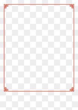 红色中国风边框新年边框装饰元素