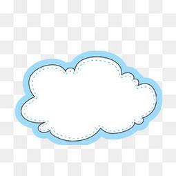 卡通手绘云朵边框