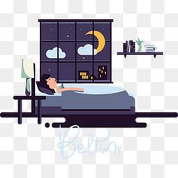 在月光下安稳睡觉