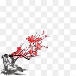 水墨中國風古風梅花