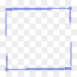 蓝色紫色科技感外发光几何方形圆