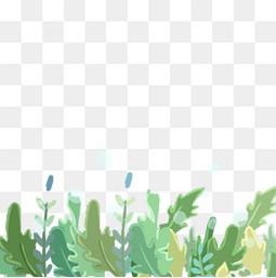 手绘绿色植物