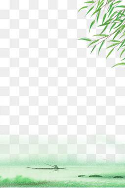 清明节简约手绘水墨边框