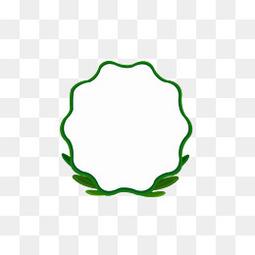绿色清新清明节边框元素