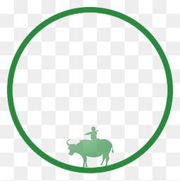 简约绿色创意圆形主题边框