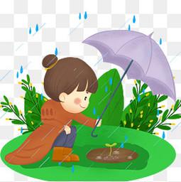中國傳統節氣谷雨元素