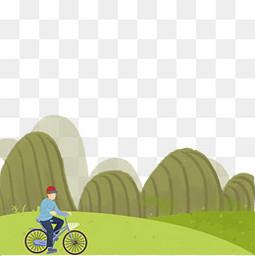 清明节郊游春日骑自行车