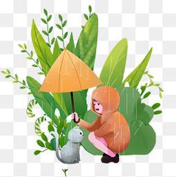 国传统节气谷雨元素