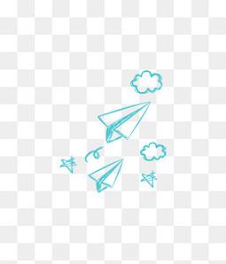 手绘纸飞机