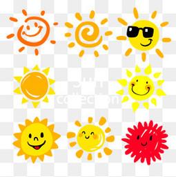 夏日阳光手绘太阳