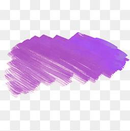 紫色笔刷标题框