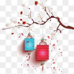 新年喜慶年貨節梅花燈籠