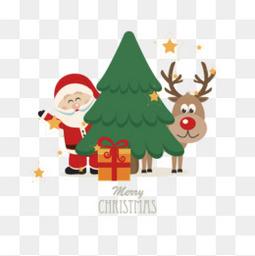 圣诞树与圣诞老人