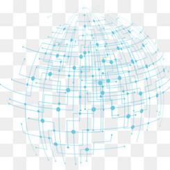 蓝色科技地球轮廓