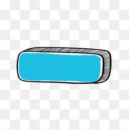 卡通按钮蓝色 箭头