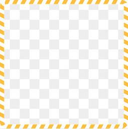 小清新黄色边框