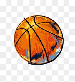 涂鸦篮球矢量素材
