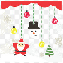 圣诞雪人与圣诞灯装饰礼物