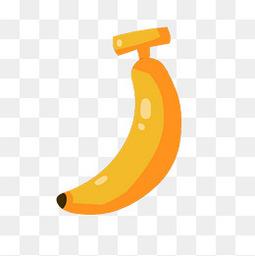 黄色卡通水果香蕉