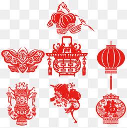 新年红色扁平简约灯笼