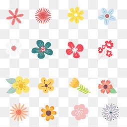 夏至小清新花朵元素