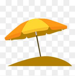 夏至小清新遮陽傘元素