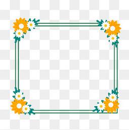 夏至小清新边框元素