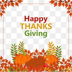 彩绘感恩节南瓜和烤火鸡矢量图