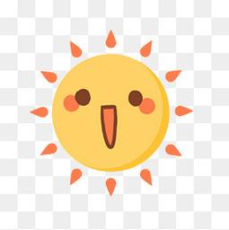 立夏卡通可愛太陽元素