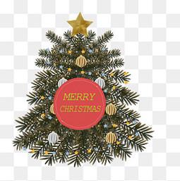 复古风圣诞节圣诞树