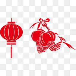 春节红色 灯笼