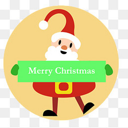 卡通创意的圣诞老人标签设计