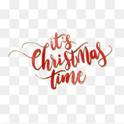 红色绿色圣诞节字体设计