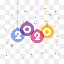 2020创意新年数字