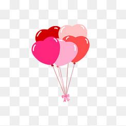 爱心红色系可爱气球