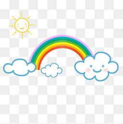 卡通太阳彩虹太阳