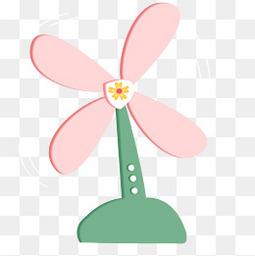粉色扇叶电风扇