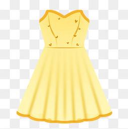 黄色可爱抹胸裙子