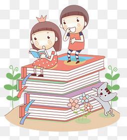 卡通儿童读书