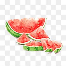 手繪水彩西瓜