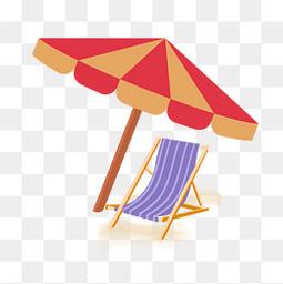 夏天沙滩海边旅游免扣图